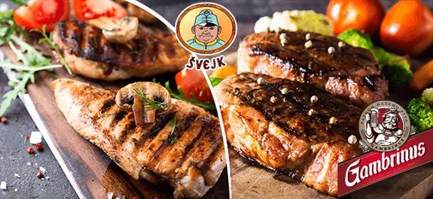 Mix steaků pro 2 osoby u Švejka