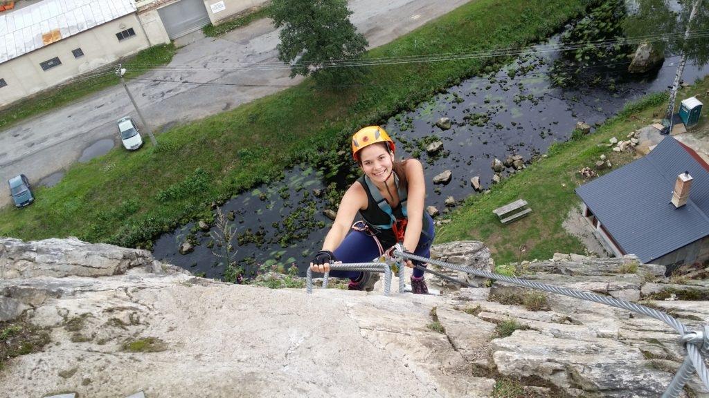 Kurz Via ferrata lezení s teorií Vír, Vysočina