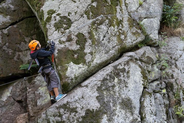 Kurz Via ferrata lezení s teorií botanická zahrada Bečov